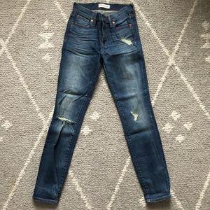 Madewell High Riser Skinny Distressed Skinny Jeans